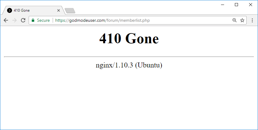 How to set Nginx to return 410 (Gone) HTTP response status code for