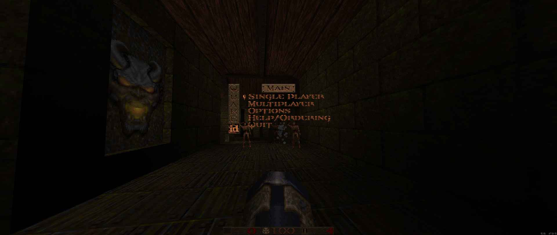 Quakespasm running Quake demo