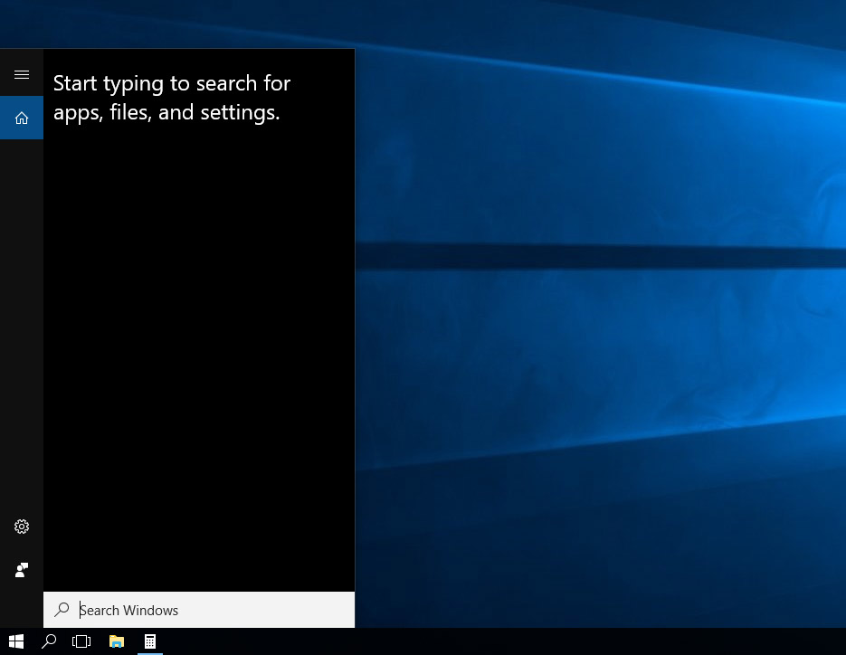 Searchbox in Windows 10
