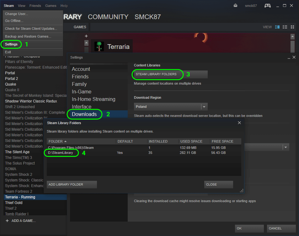 How to find Steam library folders?