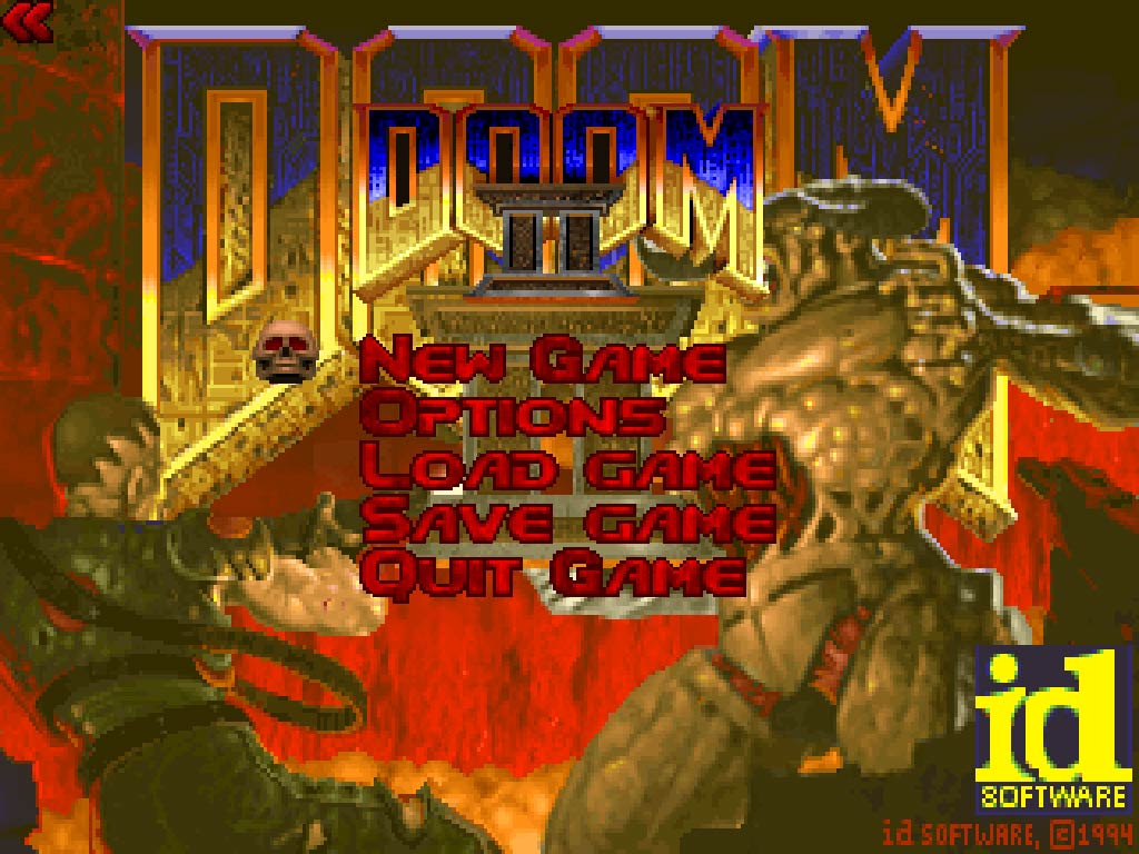 Doom 2 main menu
