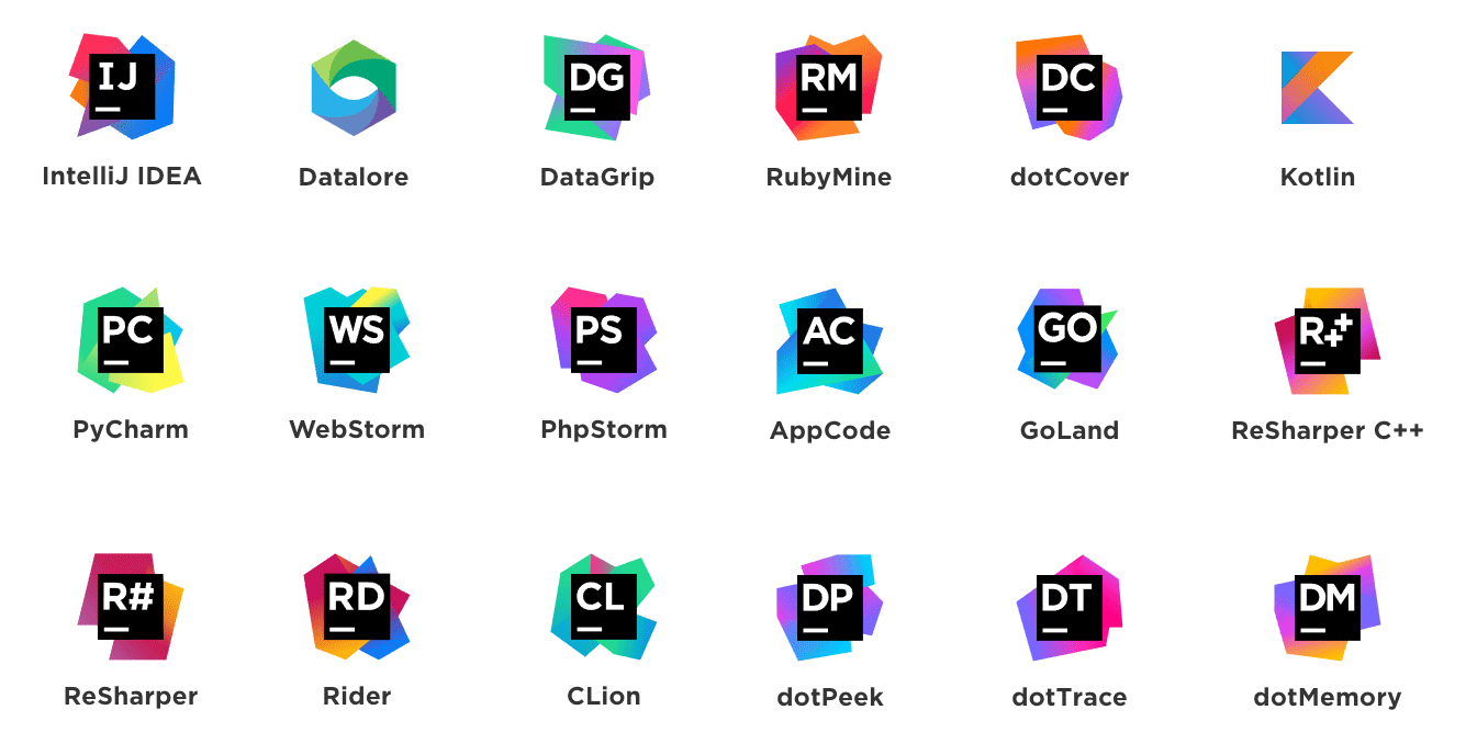 JetBrains Products Grid
